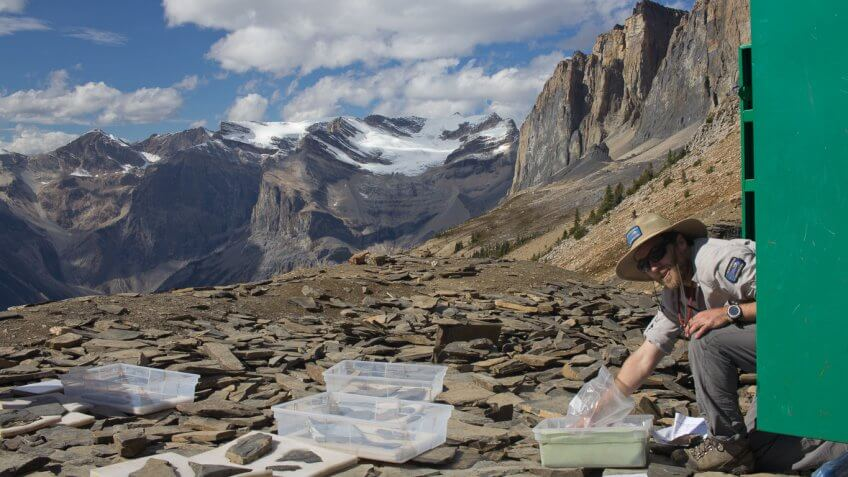 The Burgess Shale in Field, British Columbia, Canada