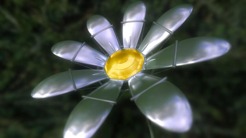 Robotic metal daisy