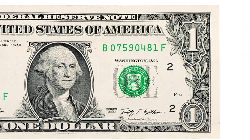 close up of US dollar bill
