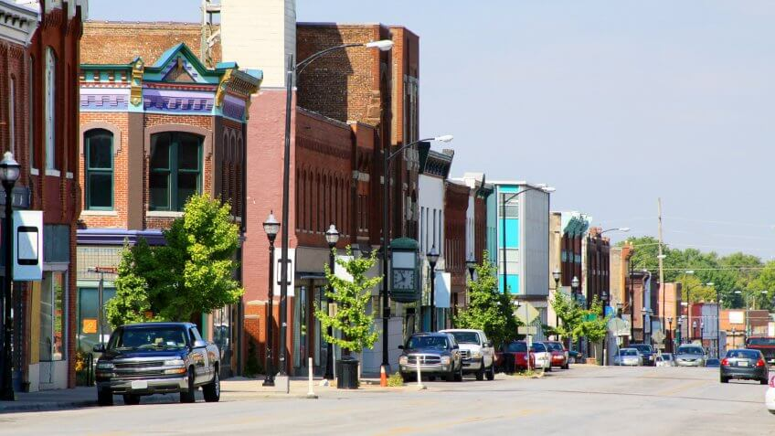 The historic section of Springfield, Missouri