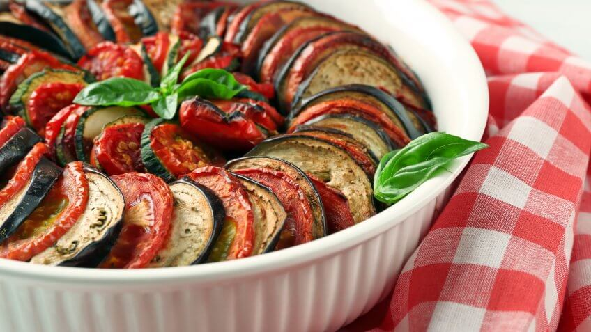 Slow-Roasted Early Season Ratatouille