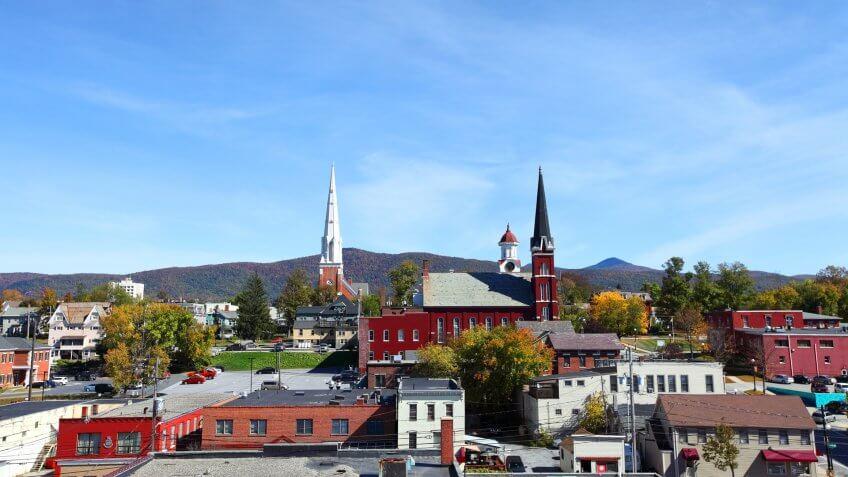 Downtown Rutland, Vermont.