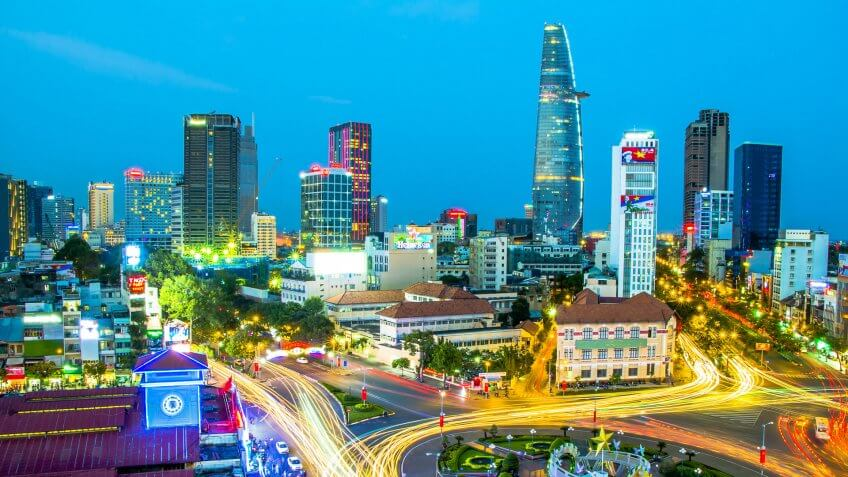 Los Angeles to Ho Chi Minh City, Vietnam