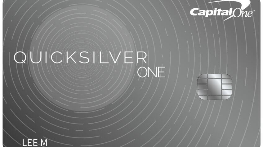 6. Capital One QuicksilverOne Cash Reward Card