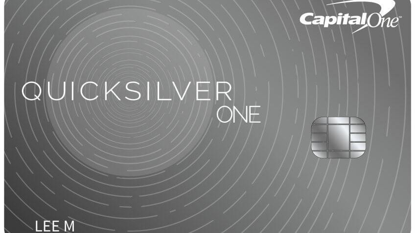 6. Capital One QuicksilverOne Cash Reward Card