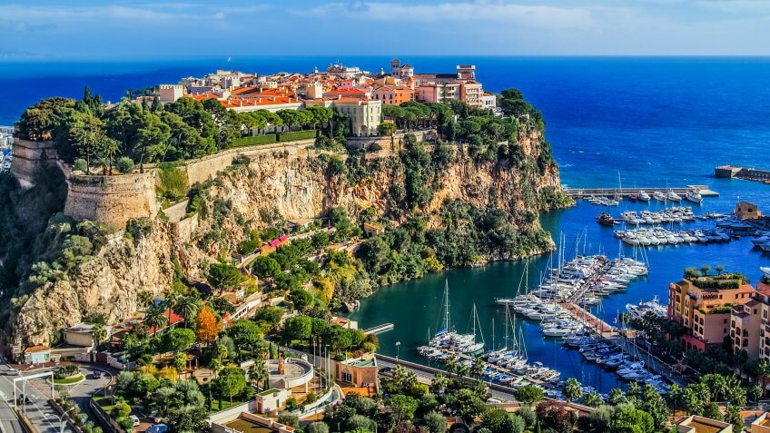 the rock the city of principaute of monaco and monte carlo France.