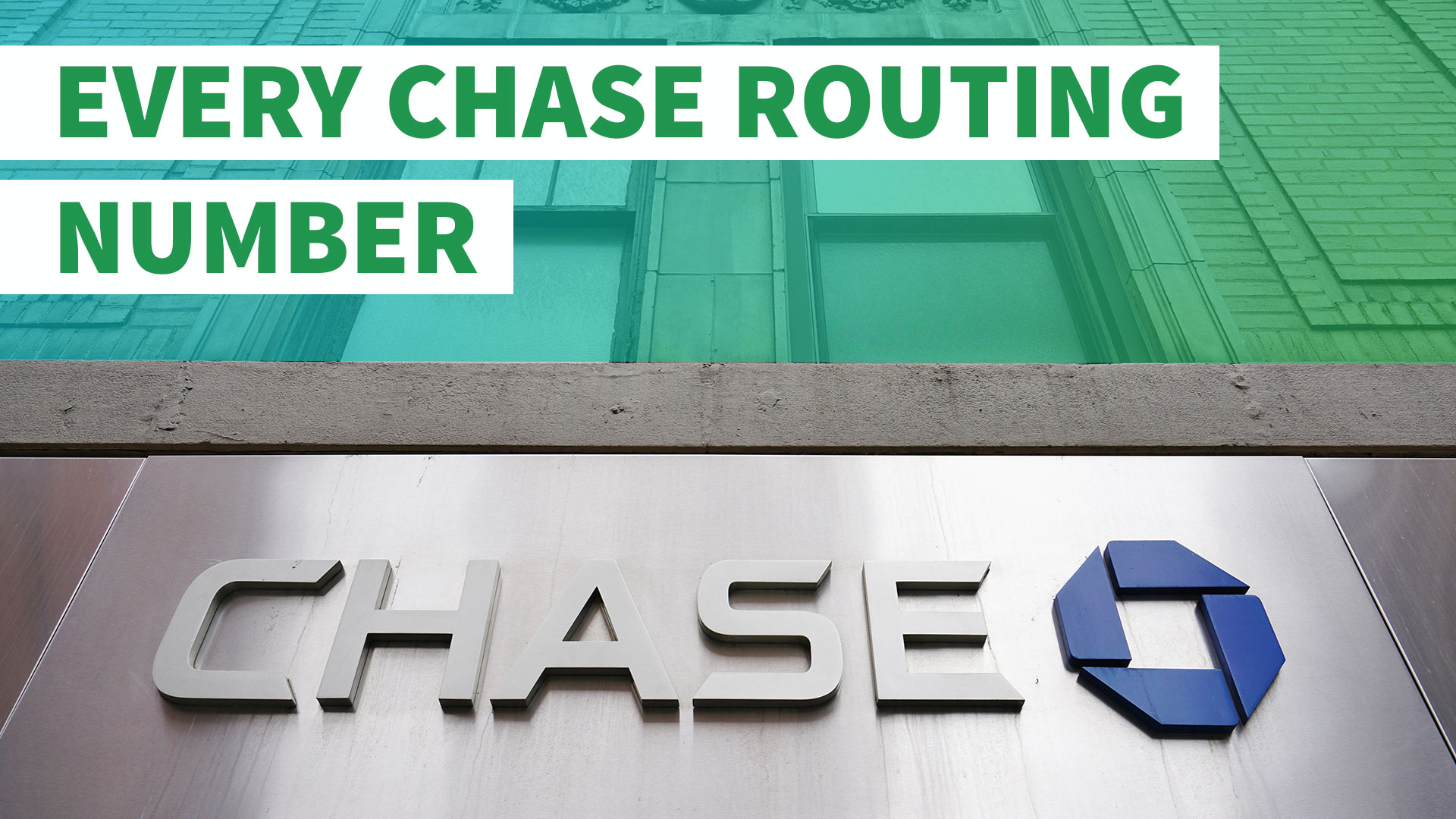 here's your chase routing number | gobankingrates