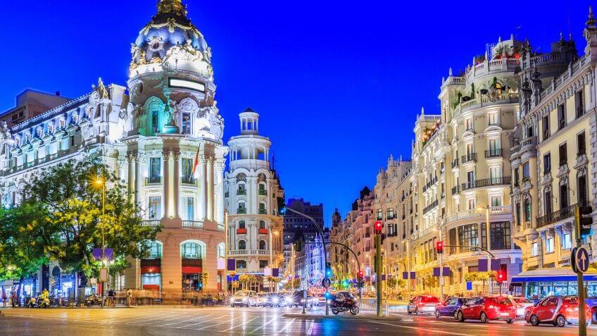 Boston to Madrid, Spain