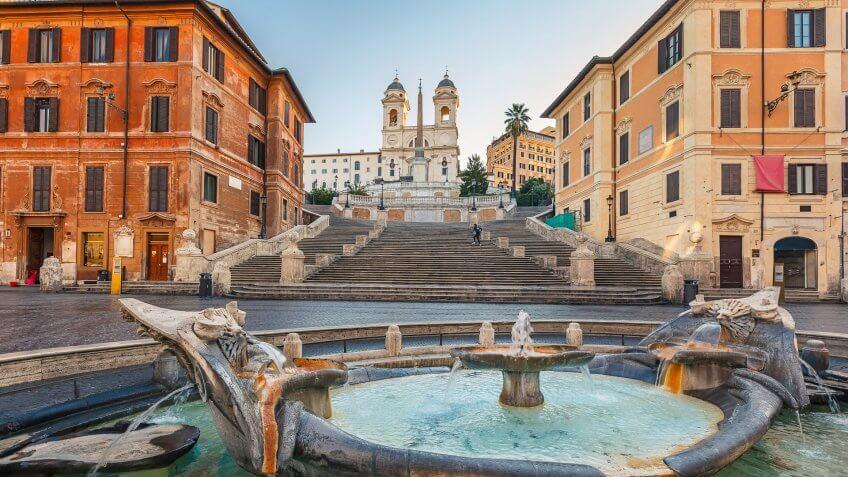 Las Vegas to Rome, Italy