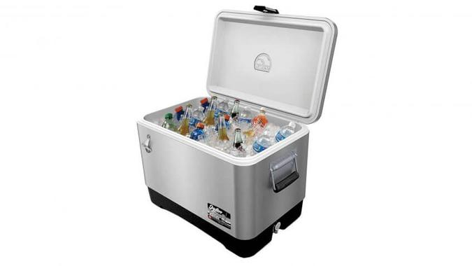 Igloo 54 Quart Stainless Steel Cooler: $134.99