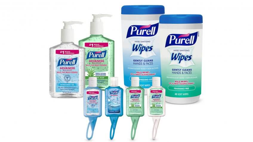 Purell Hand Sanitizer and Wipes Kit: $17.99