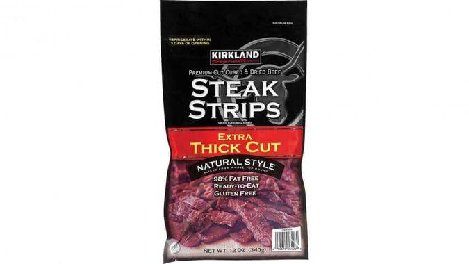 Kirkland Extra Thick Cut Steak Strips: $13.99