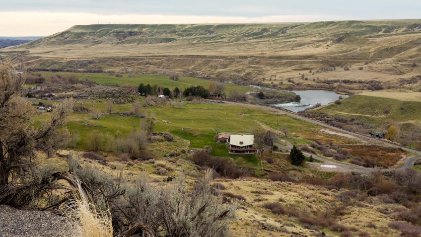 Hagerman Fossil Beds area in Snake river valley, Idaho.