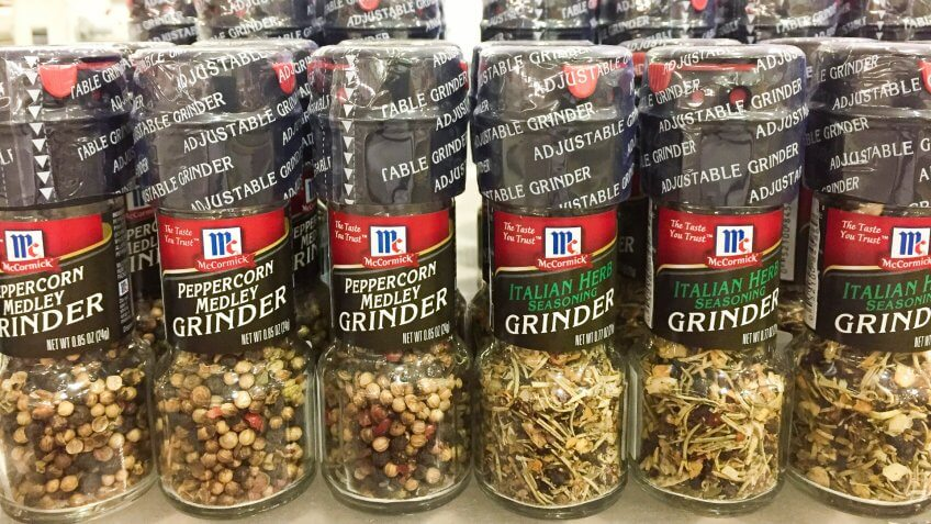 2017: McCormick Pepper corn medley grinder and Italian Herb on s, CHIANGMAI, Thailand - APRIL 02, Things that are always cheaper at Costco