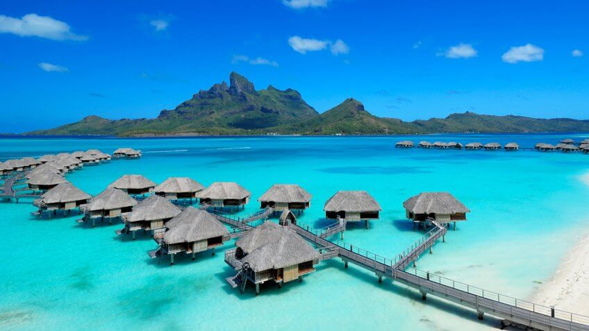 Bora Bora, Four Seasons, over the water bungalow.