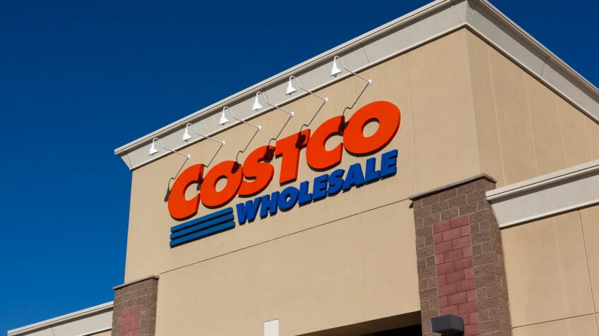 Citrus Heights, California, USA - Jun 17, 2011: Costco Wholesale storefront in Citrus Heights, California.