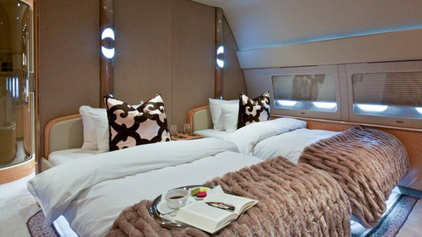 DreamMaker's Passport to 50 - private jet room.