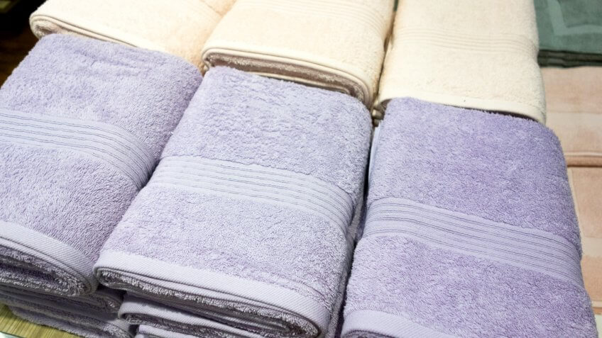 Things that are always cheaper at Costco, towels on shelves
