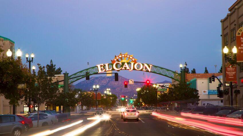 Downtown El Cajon Sign, San Diego CA.