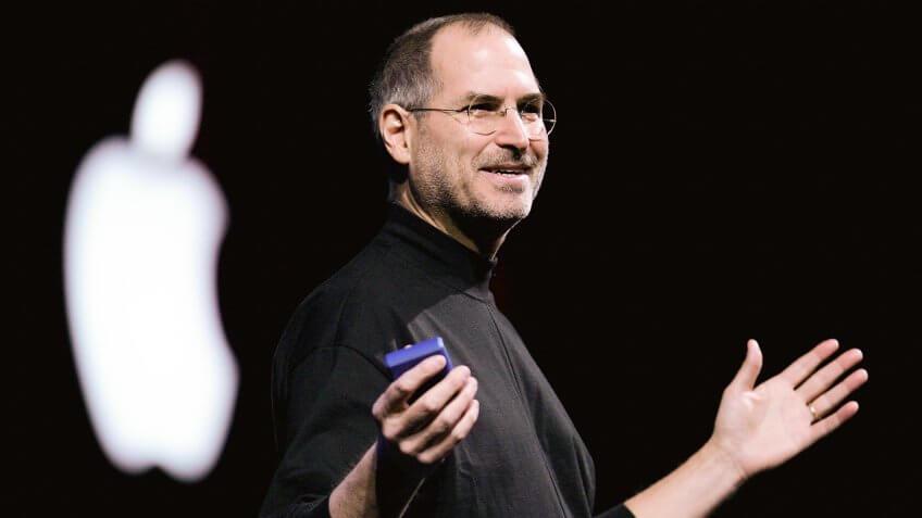 Steve Jobs presenting keynote