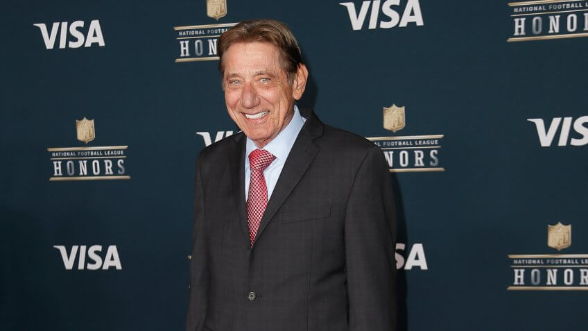 HOUSTON, TX - FEBRUARY 04: Former NFL player and actor Joe Namath attends 6th Annual NFL Honors at Wortham Theater Center on February 4, 2017 in Houston, Texas.