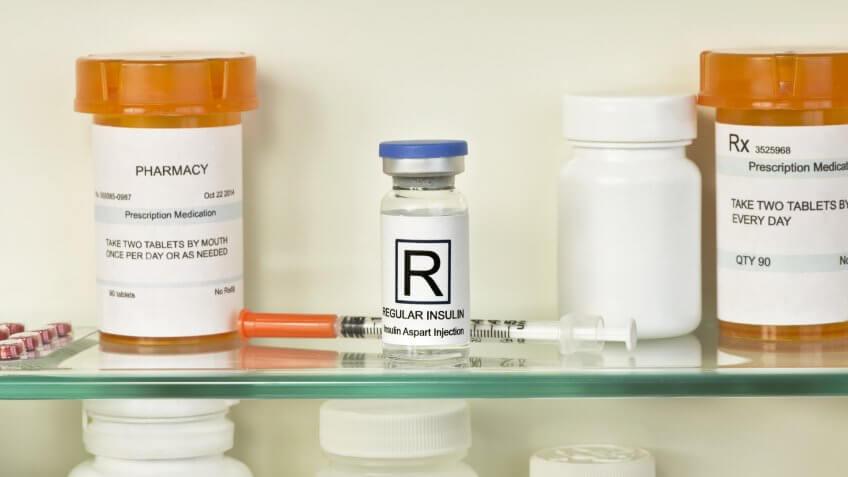 insulin medicine in cabinet