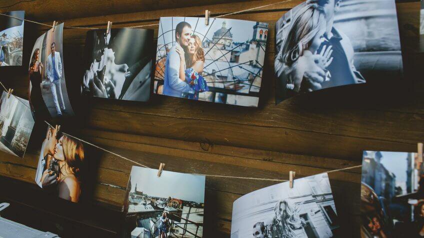 hanging photo prints