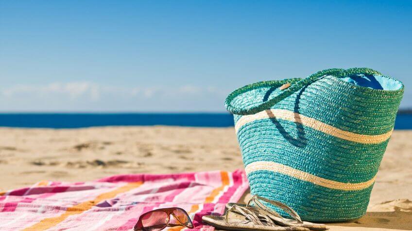 beach towel on the sand
