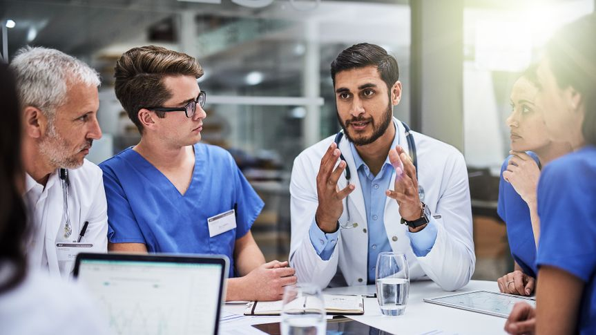 Shot of a team of doctors having a meeting.