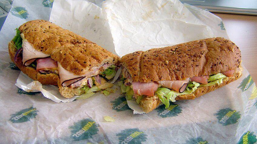 Subway, footlong, sandwiches