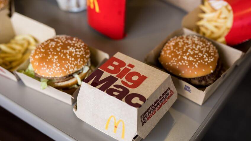 BIg Mac, McDonald's, burgers, fast food