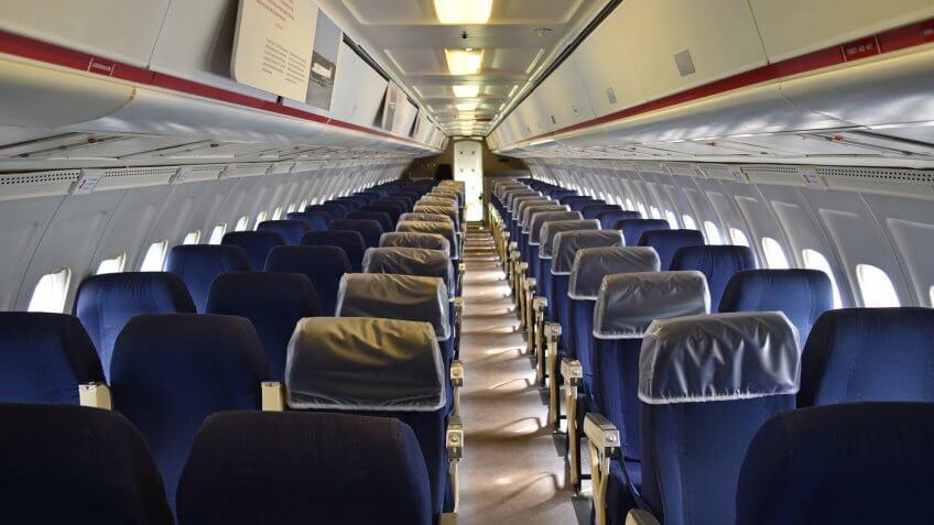 British Airways, airplane, cabin