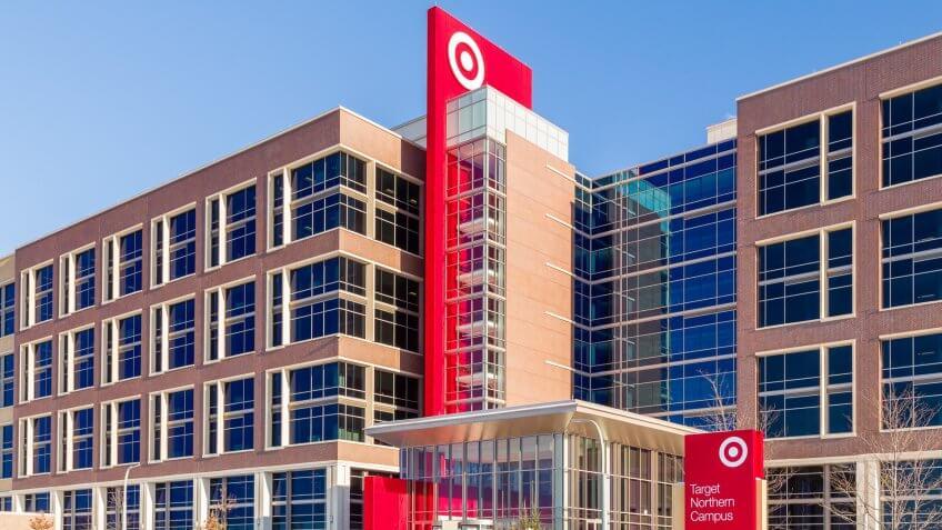 2017: Target Corporation corporate headquarters and logo. Target, MINNEAPOLIS, MN/USA - JANUARY 14