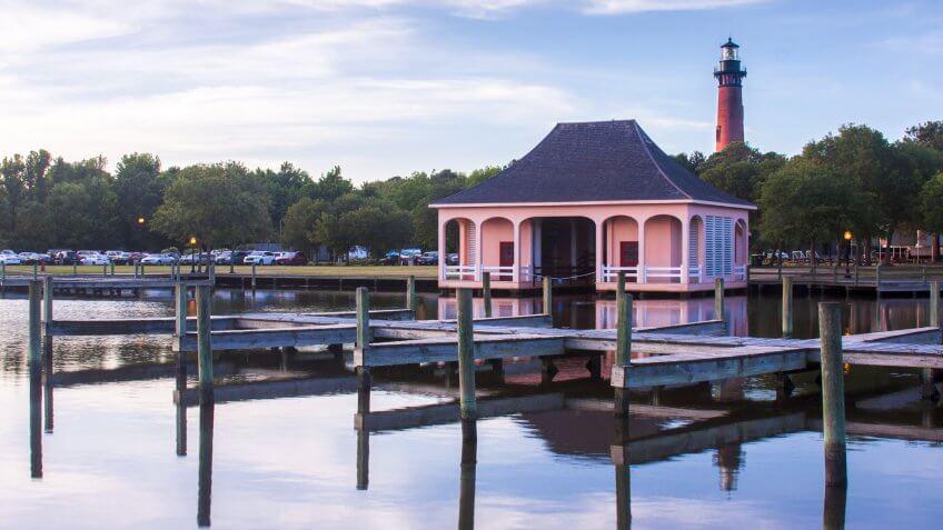 The Currituck Beach Lighthouse is in Corolla, North Carolina.