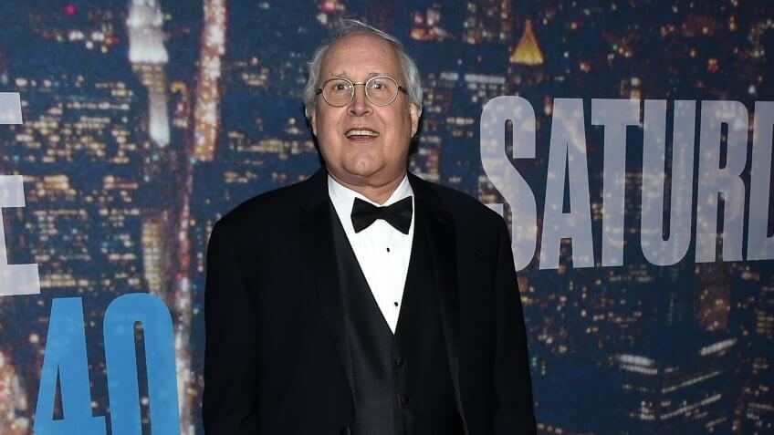 NEW YORK, NY - FEBRUARY 15:  Comedian Chevy Chase attends SNL 40th Anniversary Celebration at Rockefeller Plaza on February 15, 2015 in New York City.