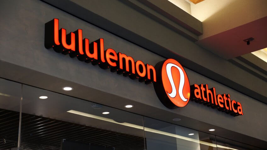 2014., 2014: Lululemon store exterior and sign at the Ala Moana Center , HONOLULU - AUGUST 7