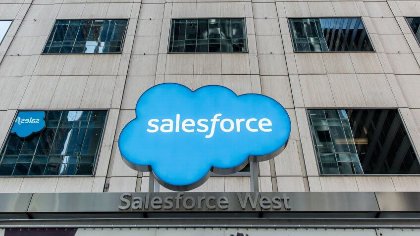 San Francisco, United States - September 14, 2016: Outside Salesforce in San Francisco, located at 50 Fremont St.