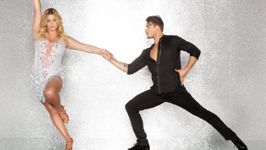 """DANCING WITH THE STARS - SASHA PIETERSE AND GLEB SAVCHENKO - The celebrity cast of """"Dancing with the Stars"""" are donning their glitzy wardrobe and slipping on their dancing shoes as they ready themselves for their first dance on the ballroom floor, as the season kicks off on MONDAY, SEPTEMBER 18 (8:00-10:01 p."""