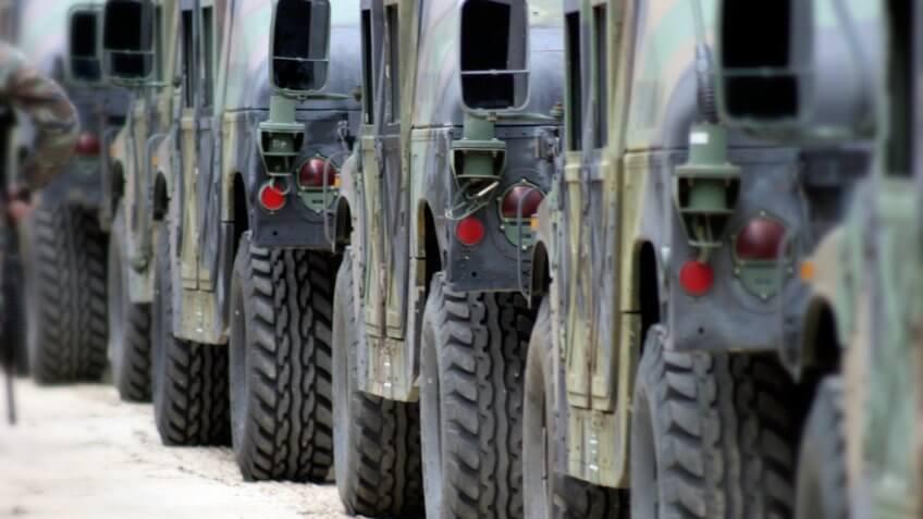 Military exercises.
