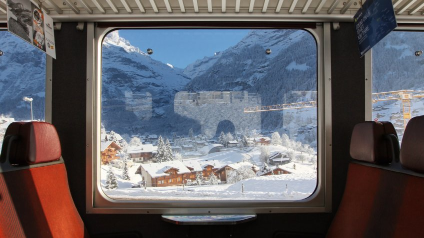 Switzerland, Zermatt, train, traveling, winter