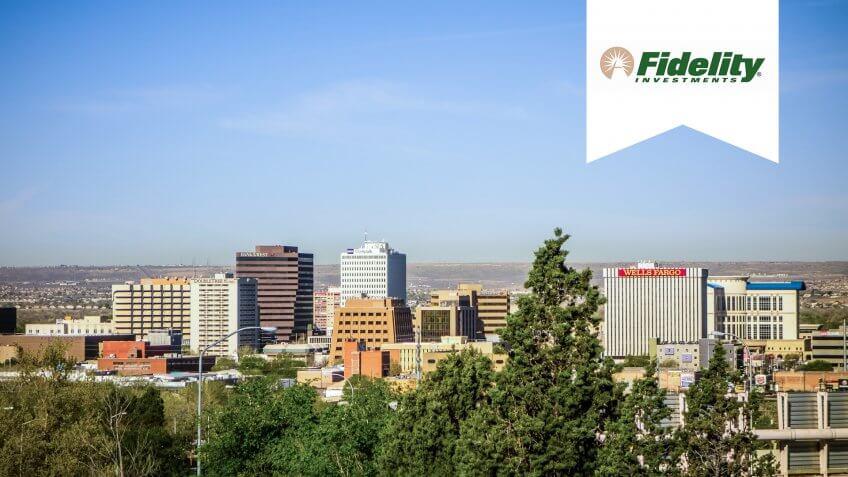 Albuquerque new mexico skyline of downtown.