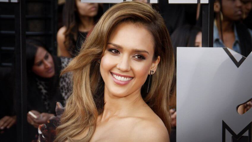 Jessica Alba at the 2014 MTV Movie Awards held at the Nokia Theatre L.