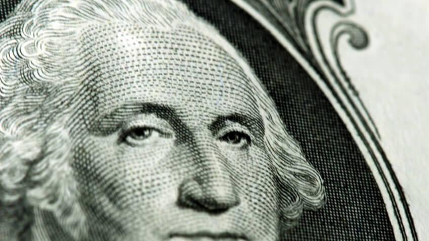 George Washington portrait dollar bill