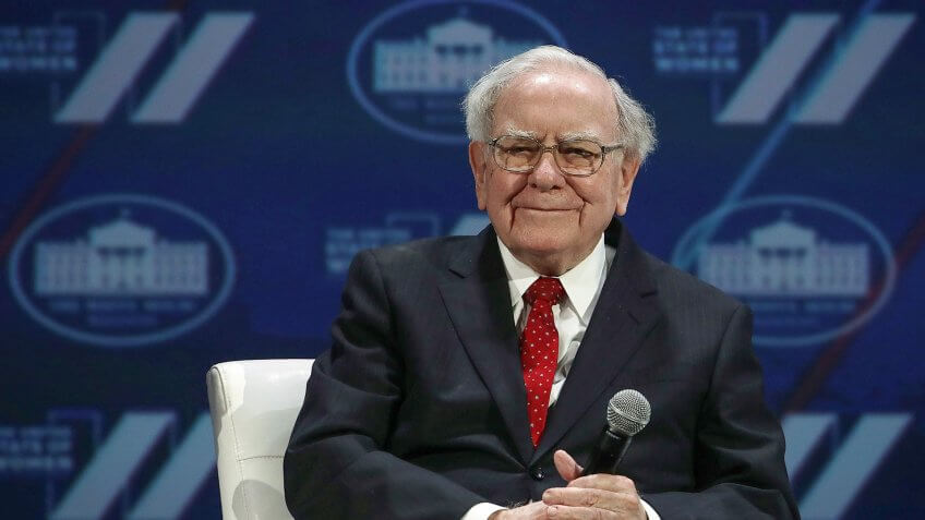 WASHINGTON, DC - JUNE 14:  Warren Buffet participates in a discussion during the White House Summit on the United State Of Women June 14, 2016 in Washington, DC.
