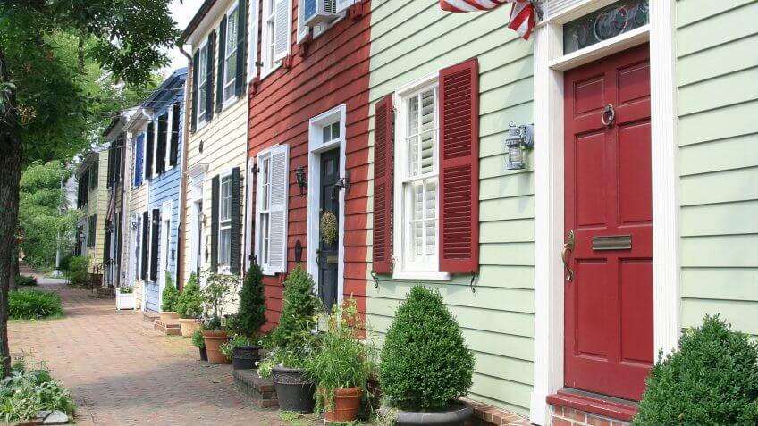 City street in Old Town, Alexandria, VA.