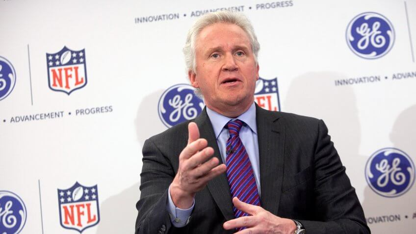 NEW YORK, NY - MARCH 11:  Jeff Immelt, chairman and CEO of General Electric, speaks at a news conference March 11, 2013 New York City.