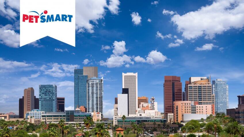 Skyline of downtown Phoenix, Arizona.
