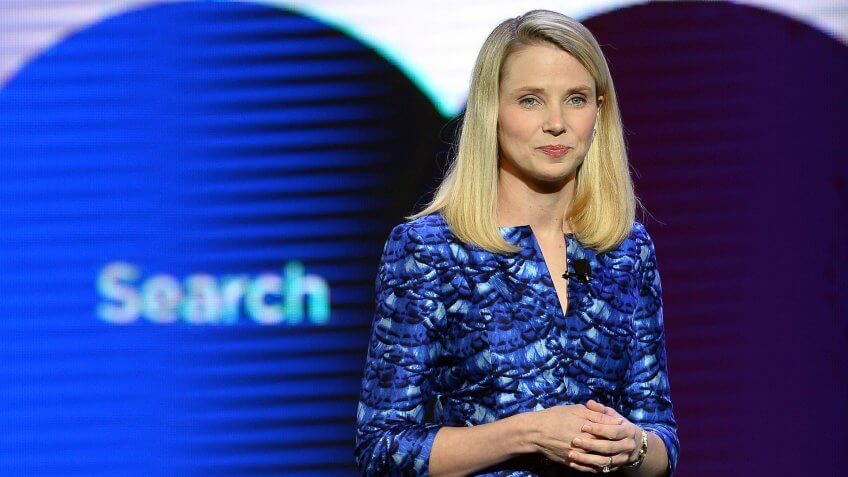 LAS VEGAS, NV - JANUARY 07:  Yahoo! President and CEO Marissa Mayer delivers a keynote address at the 2014 International CES at The Las Vegas Hotel & Casino on January 7, 2014 in Las Vegas, Nevada.