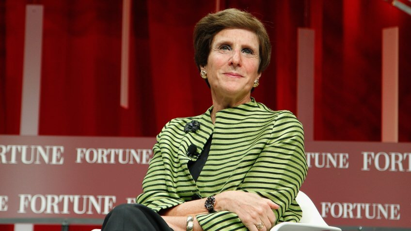 WASHINGTON, DC - OCTOBER 13:  Chairman and CEO of Mondelez International Irene Rosenfeld speaks onstage during Fortune's Most Powerful Women Summit - Day 2 at the Mandarin Oriental Hotel on October 13, 2015 in Washington, DC.