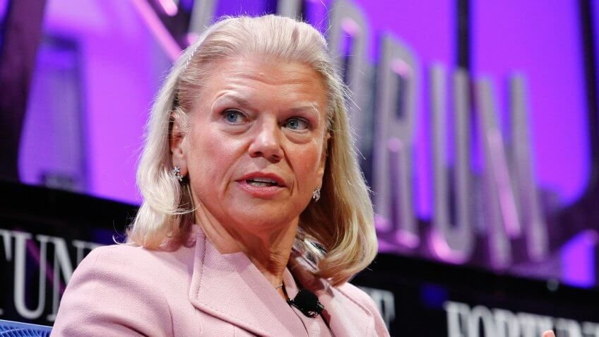 SAN FRANCISCO, CA - NOVEMBER 02:  Ginni Rometty speaks at the Fortune Global Forum at the Fairmont Hotel on November 2, 2015 in San Francisco, California.
